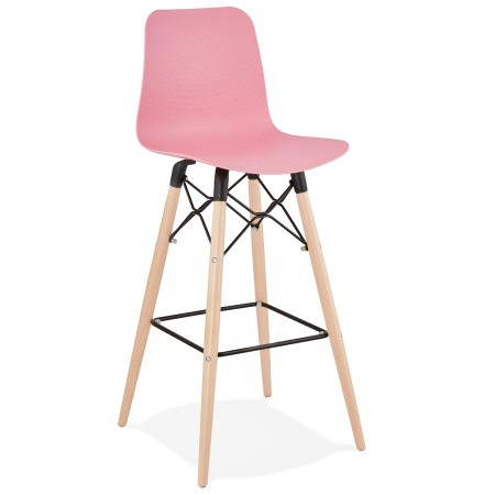 Tabouret de bar design 'MOZAIK' rose style scandinave