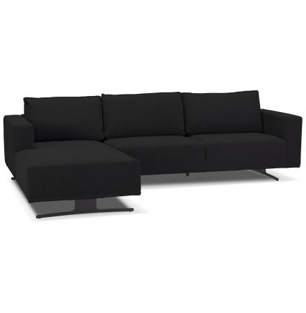 Petit canapé d'angle 'MOZART L SHAPE' noir (angle à gauche)