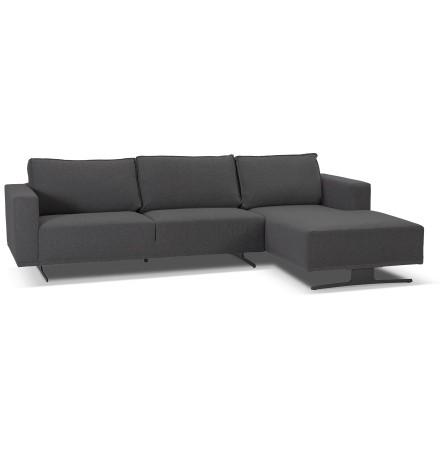 Petit canapé d'angle 'MOZART L SHAPE' gris foncé (angle à droite)