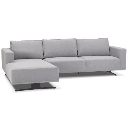 Petit canapé d'angle 'MOZART L SHAPE' gris (angle à gauche)