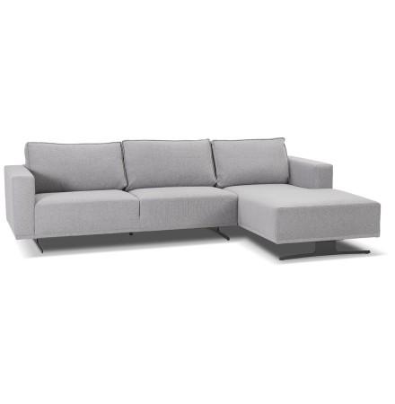 Petit canapé d'angle 'MOZART L SHAPE' gris (angle à droite)