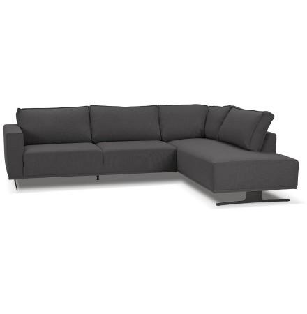 Canapé d'angle design 'MOZART LOUNGE' gris foncé (angle à gauche)