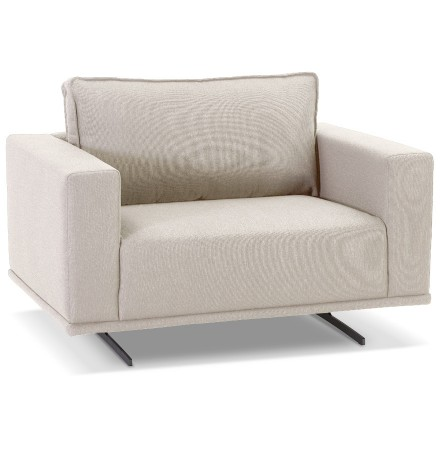 Fauteuil de salon design 1,5 places 'MOZART MINI' beige