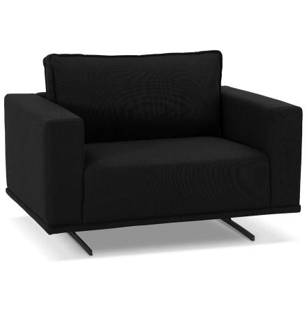 Fauteuil de salon design 1,5 places 'MOZART MINI' noir