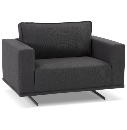Fauteuil de salon design 1,5 places 'MOZART MINI' gris foncé