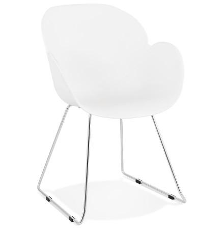 Chaise design NEGO blanche en matiere plastique - Alterego