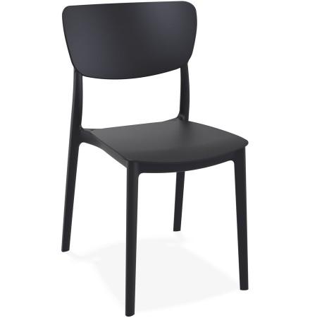 Chaise de cuisine 'OMA' en matière plastique noire
