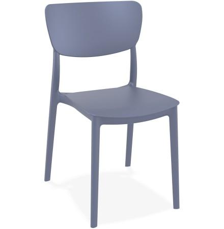 Chaise de cuisine 'OMA' en matière plastique gris foncé