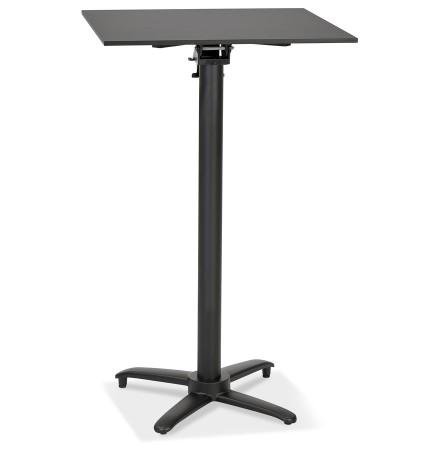 Table haute pliable 'PAXTON' carrée noire - 68x68 cm