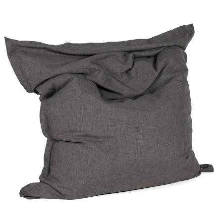 Pouf géant 'PILO' en tissu chenille gris anthracite 135x175 cm