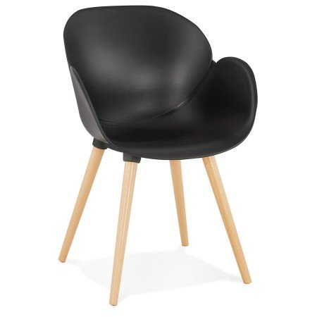 Chaise design scandinave PICATA noire - Alterego