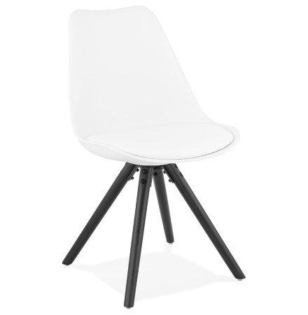 Chaise design 'PIPA' blanche