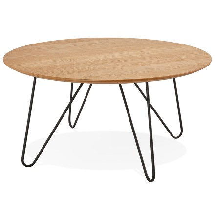 Table basse design PLUTO en bois naturel - Alterego