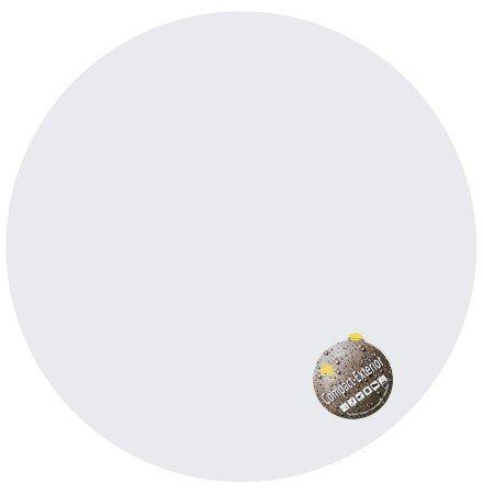 Plateau de table 'PLANO' rond Ø 68cm blanc en résine compressée