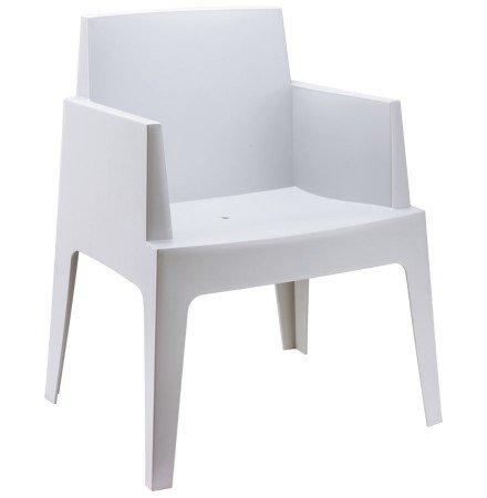 Chaise design 'PLEMO' grise claire en matière plastique