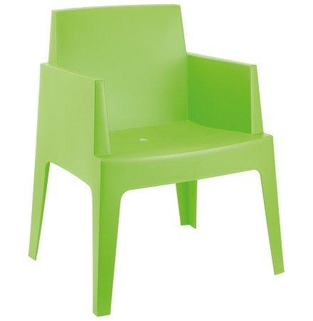 Chaise design 'PLEMO' verte en matière plastique