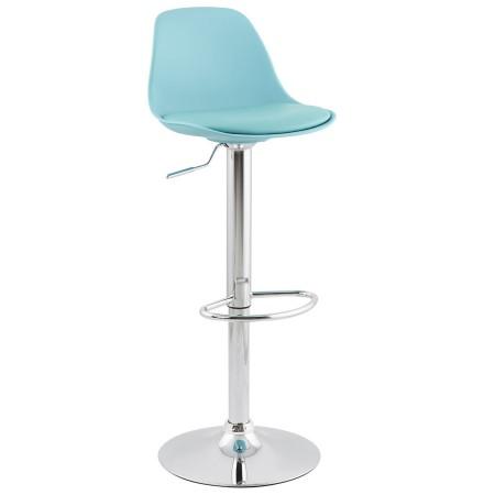 Tabouret réglable 'PRINCES' bleu avec haut dossier confortable