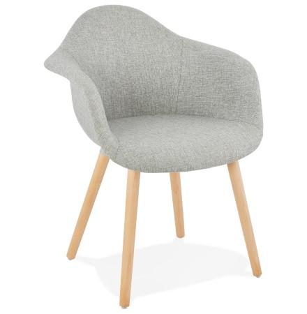 Chaise design avec accoudoirs 'RAMBLA' en tissu gris