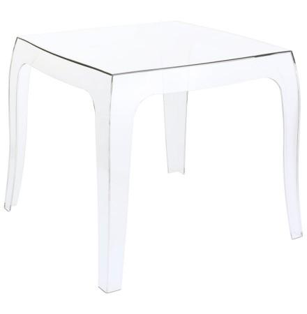 Table d'appoint 'RETRO' design transparente