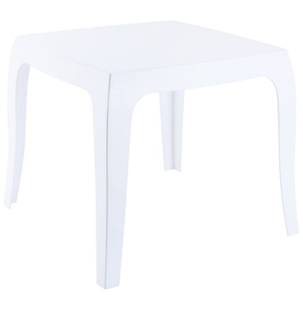 Table d'appoint 'RETRO' design blanche