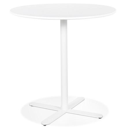 Petite table ronde 'RITMO' blanche - Ø 60 cm
