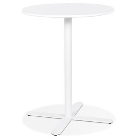 Table ronde design 'RITMO' blanche - Ø 76 cm