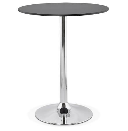 Mange-debout / table haute 'SANTIAGO' noire - Ø 90 cm