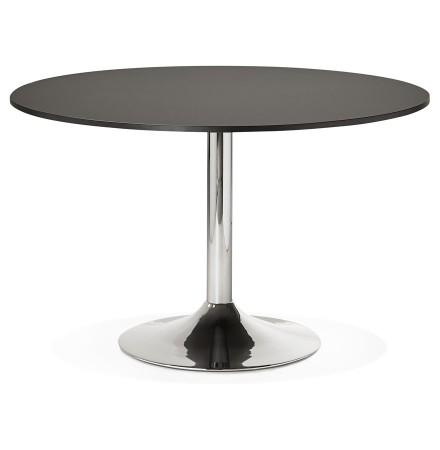 Table de bureau/à diner ronde SAOPOLO noire - Photo 1