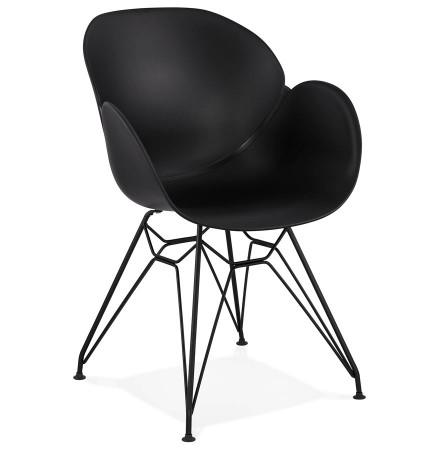 Chaise design SATELIT noire style industriel - Alterego