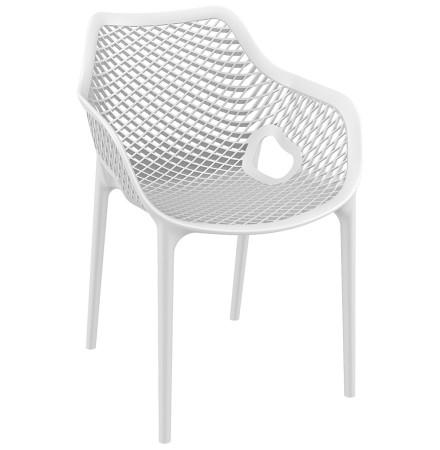 Chaise de jardin / terrasse 'SISTER' blanche en matière plastique