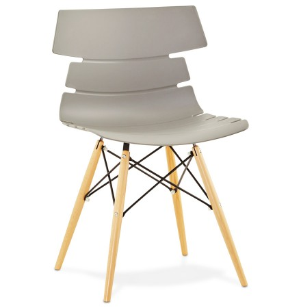 Chaise moderne 'SOFY' grise style scandinave