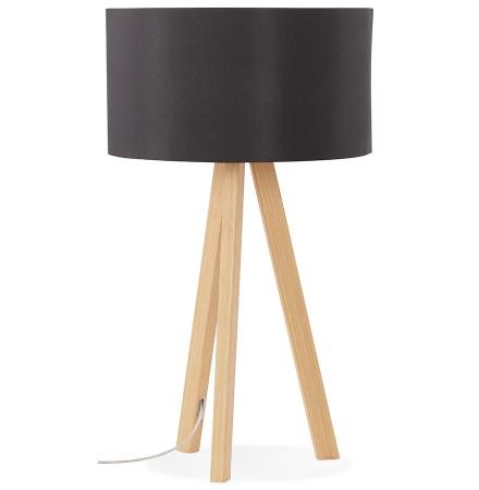 Lampe à poser trepied 'SPRING MINI' avec abat-jour noir style scandinave