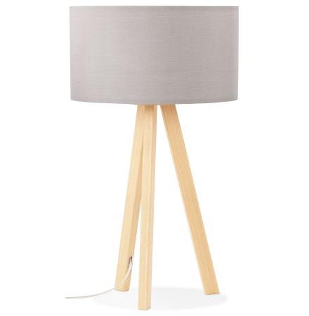 Lampe à poser trepied 'SPRING MINI' avec abat-jour gris style scandinave