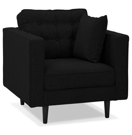 Fauteuil de salon 1 place 'STAGU MICRO' en tissu noir