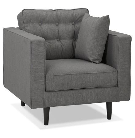 Fauteuil de salon 1 place 'STAGU MICRO' en tissu gris foncé