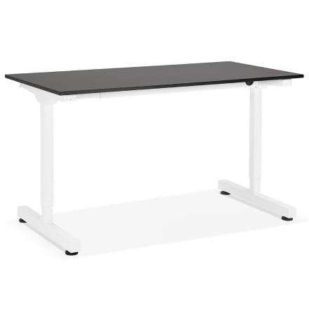 Bureau assis/debout droit 'STAND UP' noir réglable en hauteur - 140x70 cm