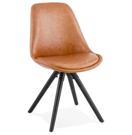 Chaise design 'STREET' brune style industriel