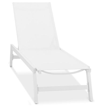 Chaise longue de jardin 'TARIFA' blanche - commande par 2 pièces / prix pour 1 pièce