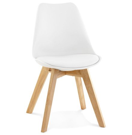 Chaise moderne teki blanche chaise scandinave for Chaises blanches modernes
