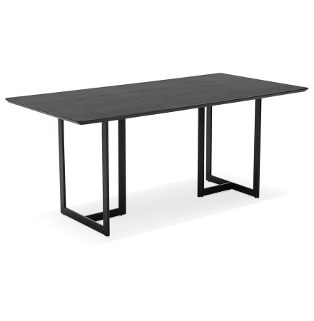 Table à diner / bureau design TITUS en bois noir - 180x90 cm - Alterego