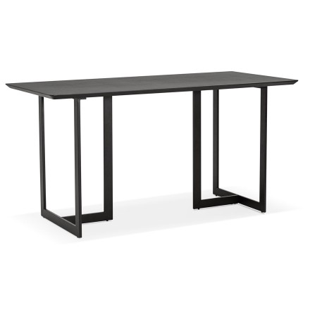 Table à diner / bureau design TITUS en bois noir - 150x70 cm - Alterego