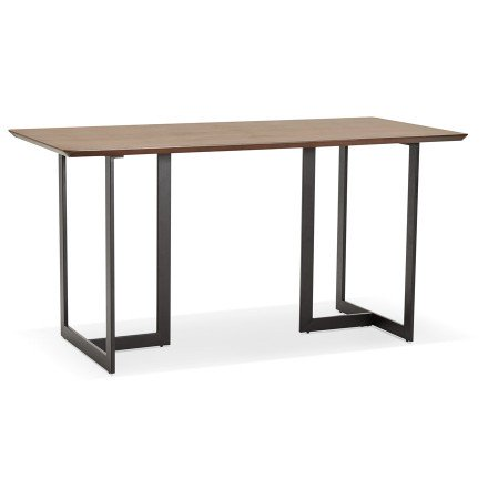 Table à diner / bureau design TITUS en bois de noyer - 150x70 cm - Alterego