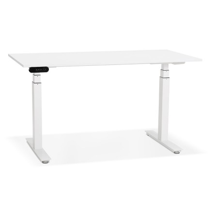 Bureau assis debout électrique 'TRONIK' blanc - 140x70 cm