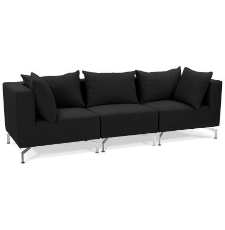 Canape modulable design VOLTAIRE noir - Alterego