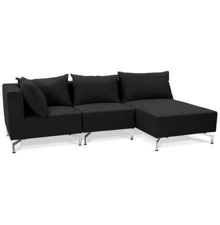 Canape d'angle modulable VOLTAIRE L SHAPE noir - Alterego