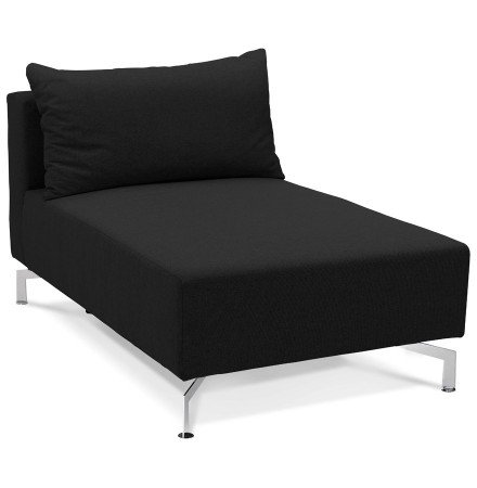 Element de canape modulable VOLTAIRE LONGCHAIR noir - Alterego