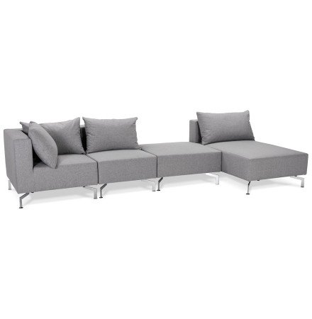 Grand canape d angle VOLTAIRE XL gris - Alterego