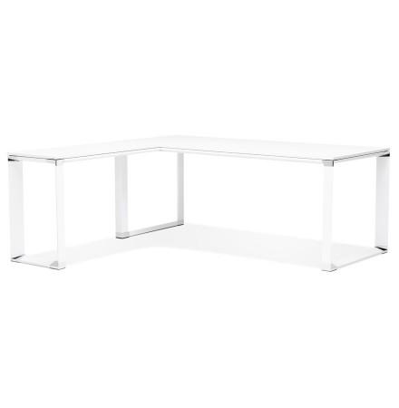 Grand bureau de direction en angle 'XLINE' en bois blanc (angle au choix) - 200 cm