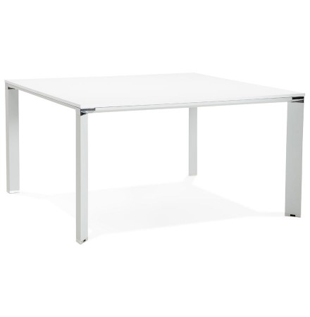 Table de réunion / bureau bench 'XLINE SQUARE' blanc - 140x140 cm