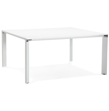 Table de réunion / bureau bench 'XLINE SQUARE' blanc - 160x160 cm